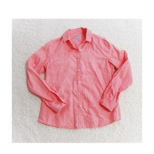 J. McLaughlin Hot Pink 100% Linen Button Down 6
